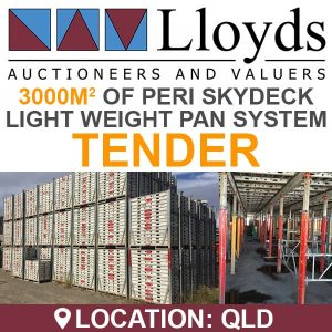 Tenders | Lloyds Auctions Australia – Auctioneers & Asset Valuation