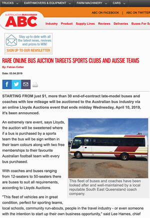 Click for Article on Bus Auction