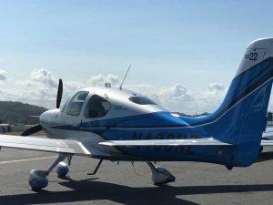Rear of Cirrus Aircraft