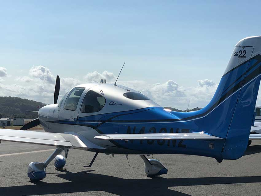 Rear of Cirrus Aircraft