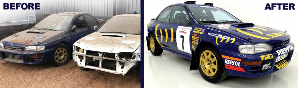 Colin McRae Subaru Impreza racing car found in barn and sold for $ 360,000 in BTC
